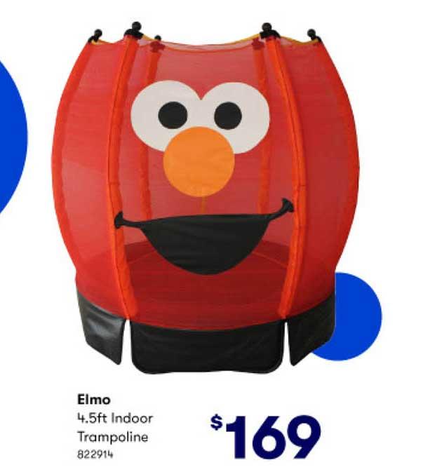 BIG W Elmo 4.5ft Indoor Trampoline