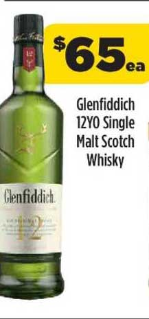 Liquorland Glenfiddich 12YO Single Malt Scoth Whisky
