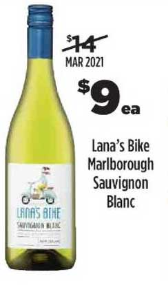 Liquorland Lana's Bike Marlborough Sauvignon Blanc