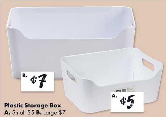 The Reject Shop Plastic Storage Box