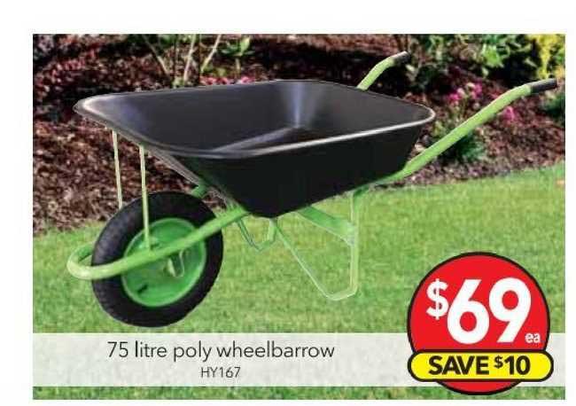 Cheap As Chips 75 Litre Poly Wheelbarrow