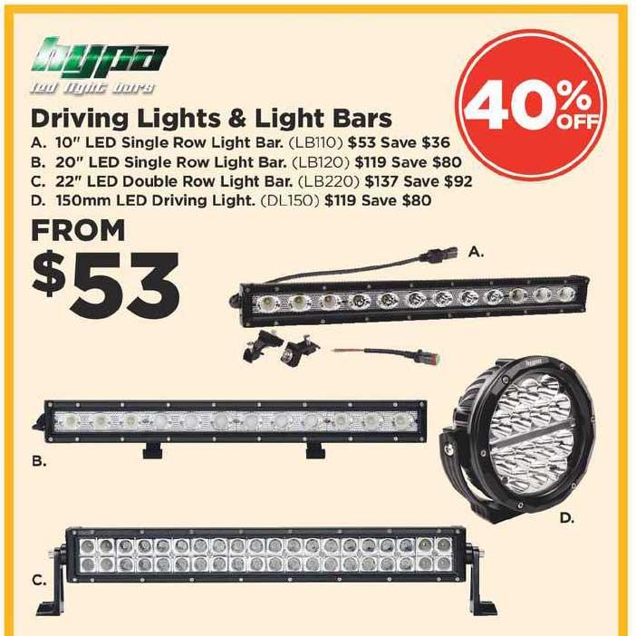 Repco Hypa Driving Lights & Light Bars