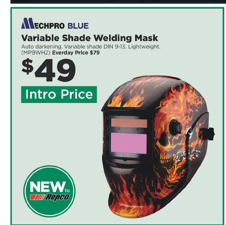 Repco Mechpro Blue Variable Shade Welding Mask