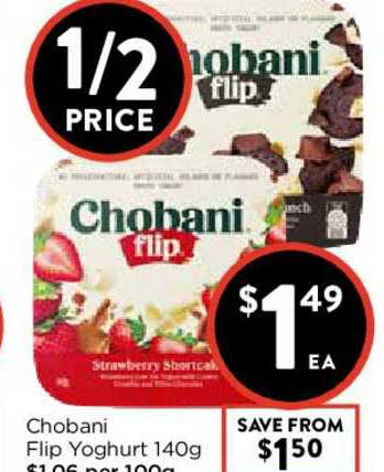 FoodWorks Chobani Flip Yoghurt