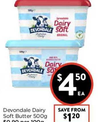FoodWorks Devondale Dairy Soft Butter