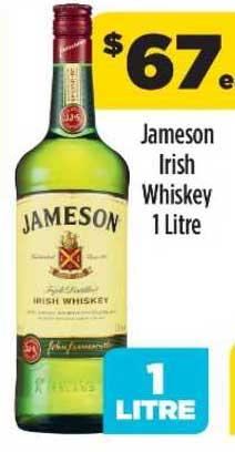 Liquorland Jameson Irish Whiskey 1 Litre