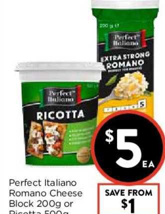 FoodWorks Perfect Italiano Romano Cheese Block Or Ricotta