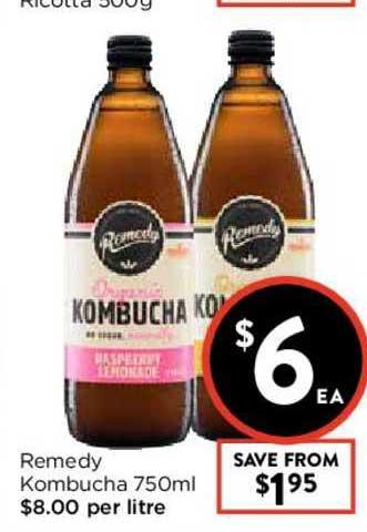 FoodWorks Remedy Kombucha