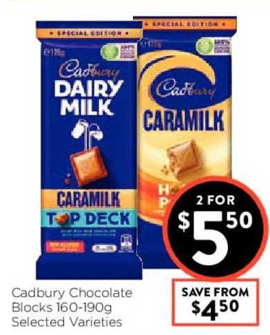 FoodWorks Cadbury Chocolate Blocks