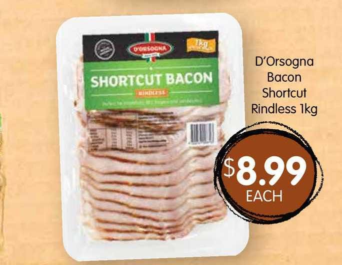 Spudshed D'orsogna Bacon Shortcut Rindless 1kg