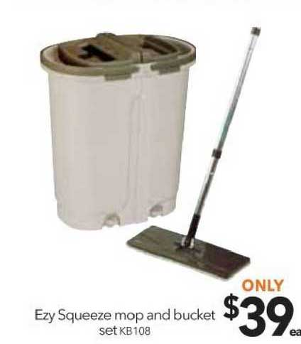 Cheap As Chips Ezy Squeeze Mop And Bucket