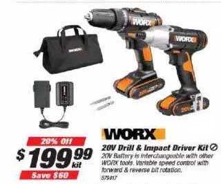 Supercheap Auto 20v Drill & Impact Driver Kit