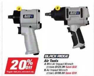 Supercheap Auto Black Ridge Air Tools