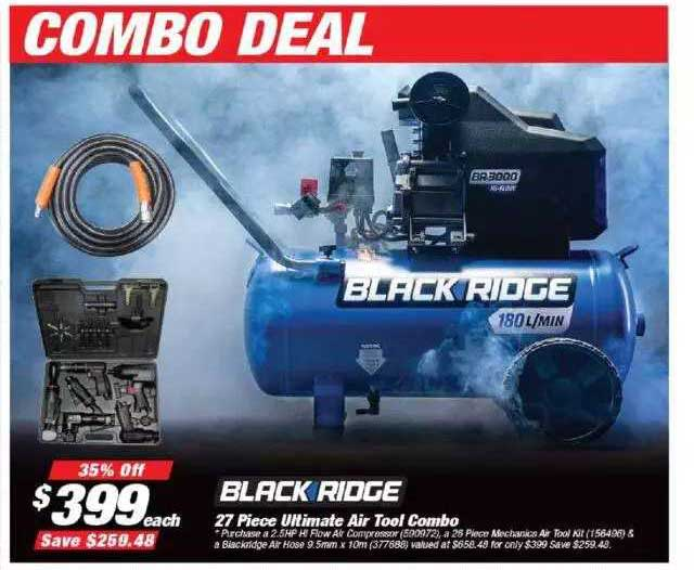 Supercheap Auto Blackridge 27 Piece Ultimate Air Tool Combo
