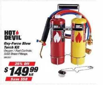Supercheap Auto Hot Devil Oxy-force Blow Torch Kit