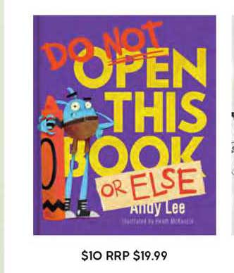 Target Do Not Open This Book Or Else Andy Lee