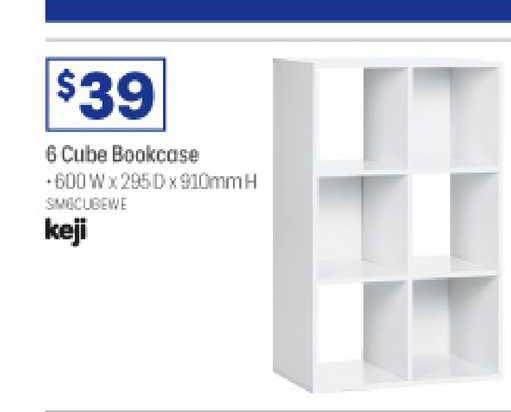 Officeworks Keji 6 Cube Bookcase