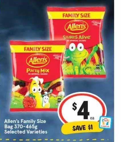 IGA Allen's Family Size Bag Selected Varieties