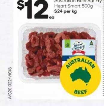 Woolworths Australian Beef Fry Heart Smart