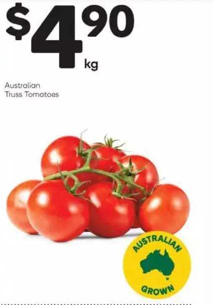 Woolworths Australian Truss Tomatoes