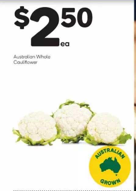 Woolworths Australian Whole Cauliflower