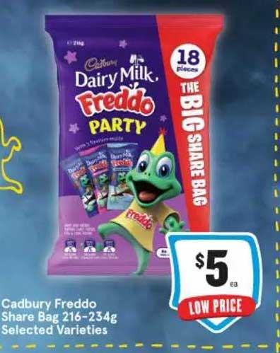 IGA Cadbury Freddo Share Bag Selected Varieties
