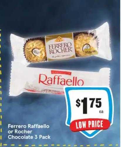 IGA Ferrero Raffaello Or Rocher Chocolate 3 Pack