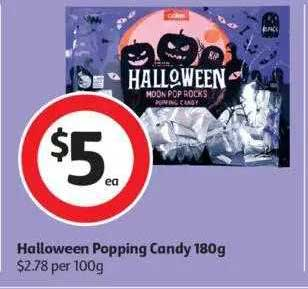 Coles Halloween Popping Candy 180g