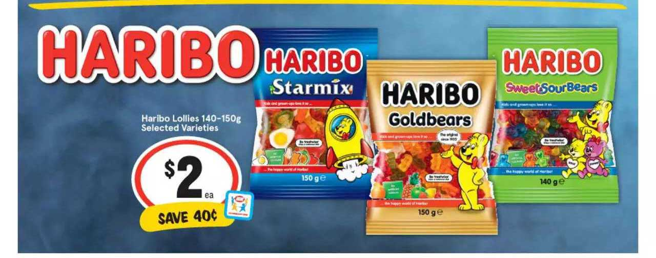 IGA Haribo Lollies Selected Varieties