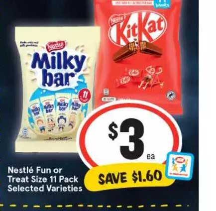 IGA Nestlé Fun Or Treat Size 11 Pack Selected Varieties