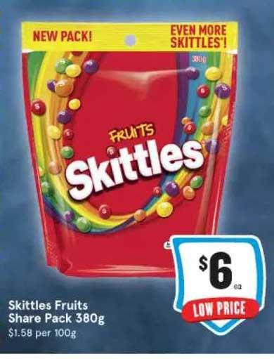IGA Skittles Fruits Share Pack