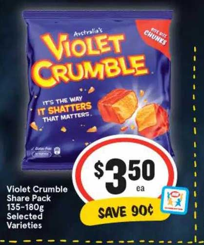 IGA Violet Crumble Share Pack Selected Varieties