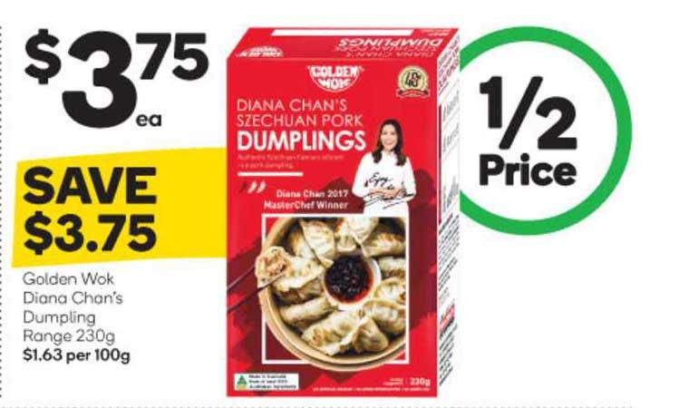 Woolworths Golden Wok Diana Chan's Dumpling Range 230g
