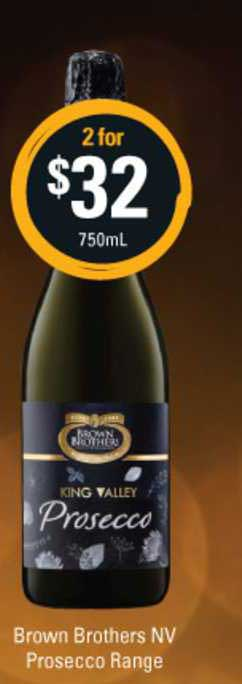 Cellarbrations Brown Brothers Nv Prosecco Range