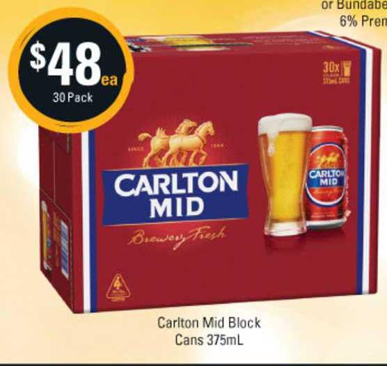 Cellarbrations Carlton Mid Block Cans