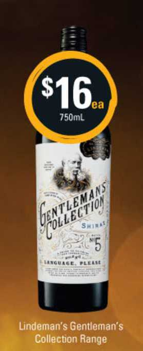 Cellarbrations Lindeman's Gentleman's Collection Range