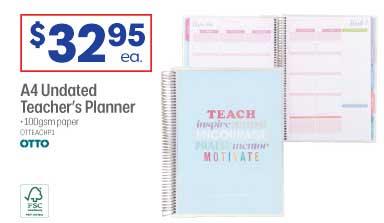 Officeworks A4 Undated Teacher's Planner Otto