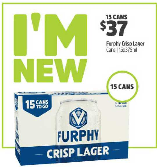 BWS Furphy Crisp Lager Cans | 15x375ml