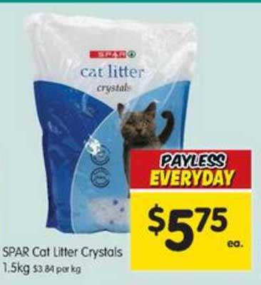 SPAR Spar Cat Litter Crystals 1.5Kg