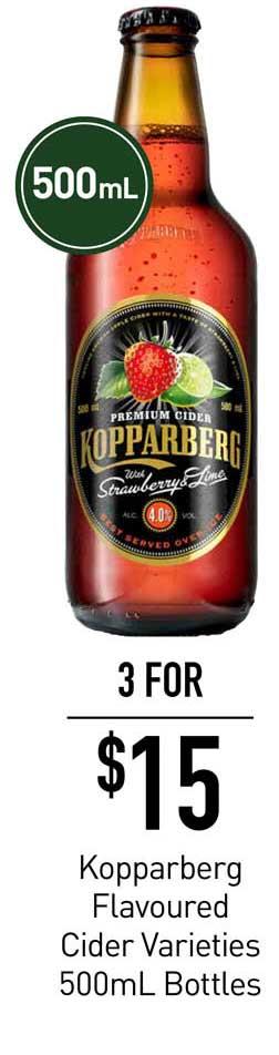 Dan Murphy's Kopparberg Flavoured Cider Varieties 500mL Bottles