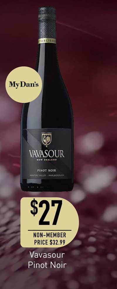 Dan Murphy's Vavasour Pinot Noir
