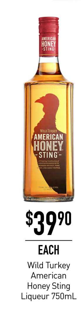 Dan Murphy's Wild Turkey American Honey Sting Liqueur 750mL