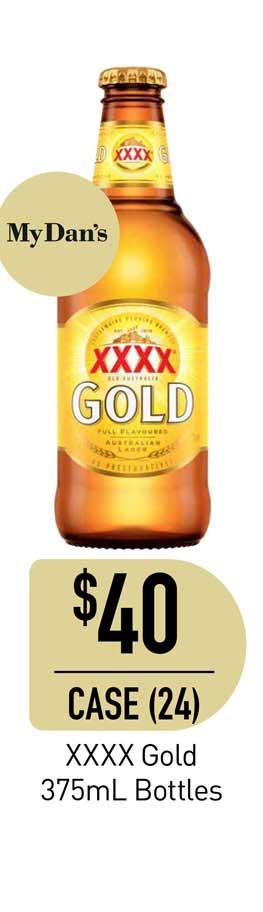 Dan Murphy's XXXX Gold 375mL Bottles