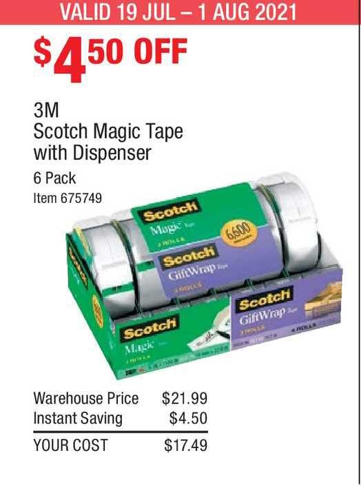 Costco 3m Scotch Magic Tape With Dispenser
