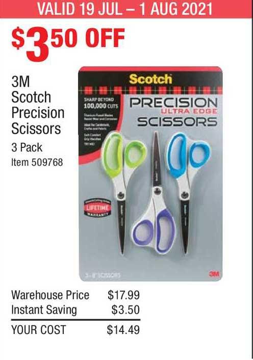 Costco 3m Scotch Precision Scissors