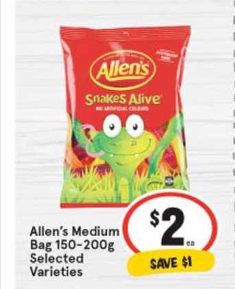 IGA Allen's Medium Bag 150-200g