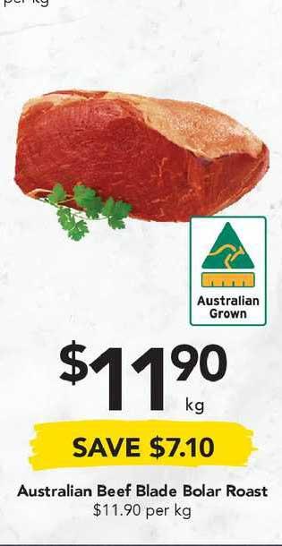 Drakes Australian Beef Blade Bolar Roast