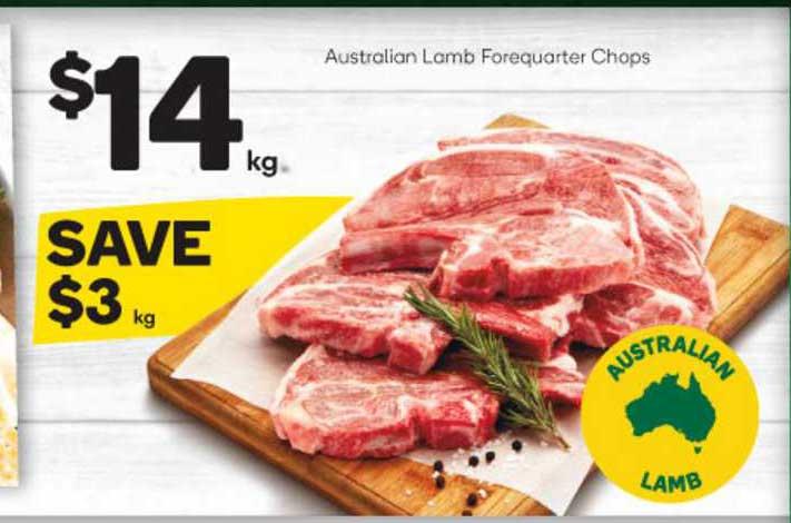 Woolworths Australian Lamb Forequarter Chops