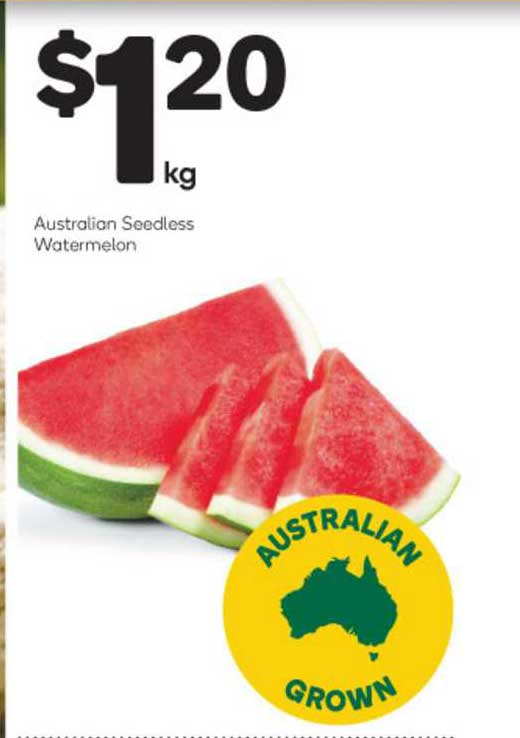 Woolworths Australian Seedless Watermelon