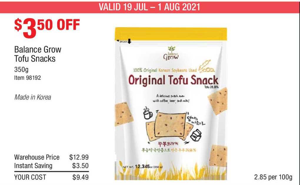 Costco Balance Grow Tofu Snacks
